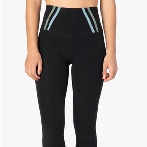 Beyond Yoga Stripe Down High Waisted Midi Legging